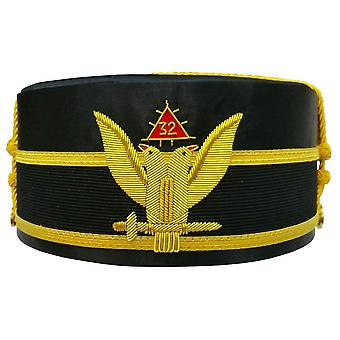 32. Degree Wings UP Scottish Rite Double-Eagle Cap Bullion Hand Stickerei