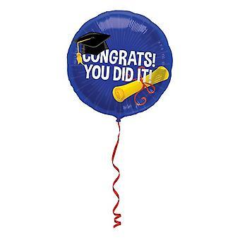 Slide balon zrobiłeś to Gratulacje! Zakończenie Uni balon helu 45 cm