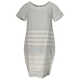Vlt's By Valentina's Lightweight Short Sleeve Linen Dress