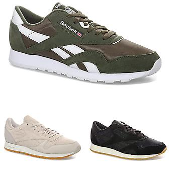 Mens Reebok Classics SG & SF Trainers in Green, Black & Sand