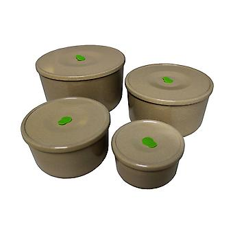 OLPRO Husk Storage Containers Full Set 4 in 1 Round Storage with Lids BPA Free