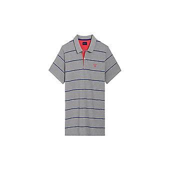 Gant 3-Col Pique poolo paita Rugger Grey Melange