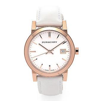 Burberry Bu9108 Check Dial 34mm Ladies Wristwatch