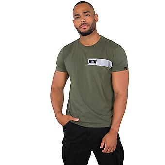 Alpha Industries férfi T-shirt fényvisszaverő csíkok
