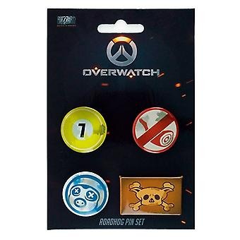 Overwatch, 4x Pins-Roadhog