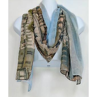 コレクション バルーン ガール プリント スカーフ マルチ カラー ブルー A257325