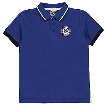 Source Lab Boys Chelsea FC Polo Shirt Junior Kids