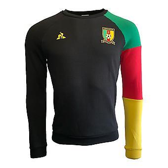 2019-2020 Kameroen Fanwear crew Sweatshirt (zwart)