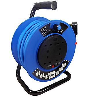 Spectre 25 Metre 240v Cable Reel 1.5mm 4x13 Amp Sockets