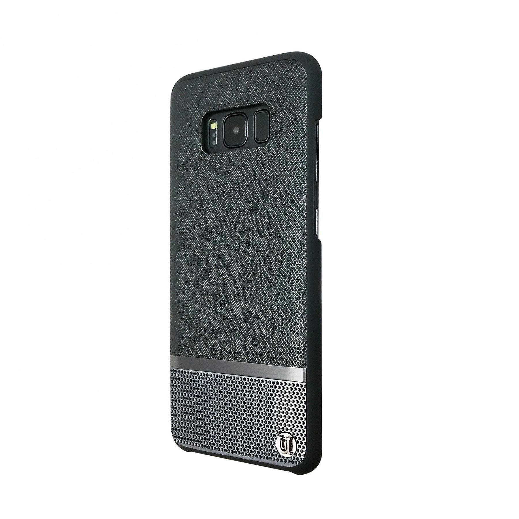 Samsung Galaxy S8 Case Mode Luxe Saffiano/Perforated Hard Shell Black/Gunmetal