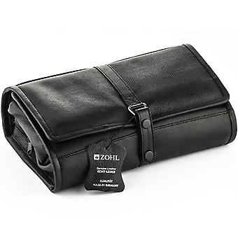 Zohl Hanging Toiletry Leather Bag Large With Nail Set