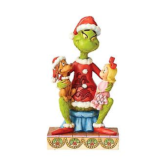 Dr. Seuss The Grinch with Cindy and Max Figurine