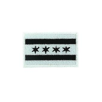 Patch Ecusson Brode Backpack Flag Flag Chicago Camo Thermocollant Badge