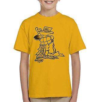 Grimmy Dressed Up Businessman Kid's T-Shirt