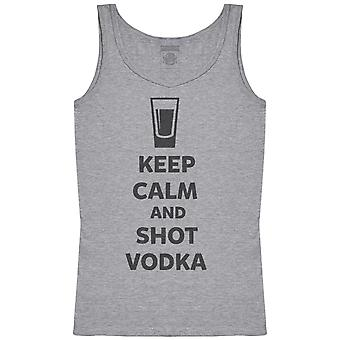 Keep Calm And Shot Vodka - Womens Tank Top
