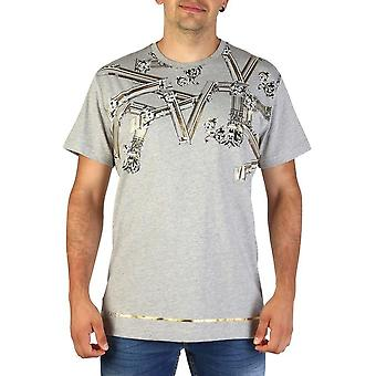 Versace Jeans - Bekleidung - T-Shirts - B3GTB72D_36609_810 - Herren - darkgray,gold - XL
