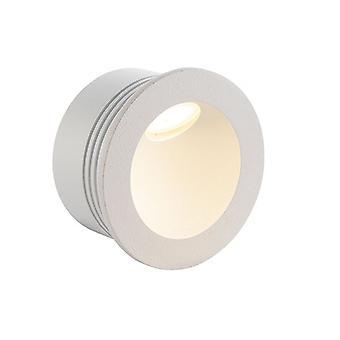 Saxby osvetlenie Hester integrovaný LED 1 ľahký Vonkajší zapustené svetlo textúrou matný biely, sklo IP65 79194