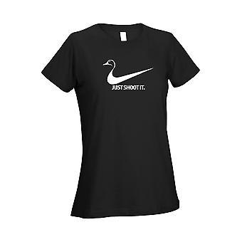 Women's T Shirt Just Shoot It - Duck
