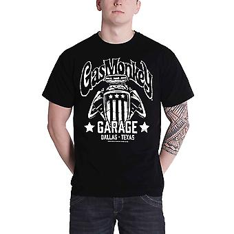 Gas Monkey Garage T Shirt Mens American Engine Kustom Builds new Official Black