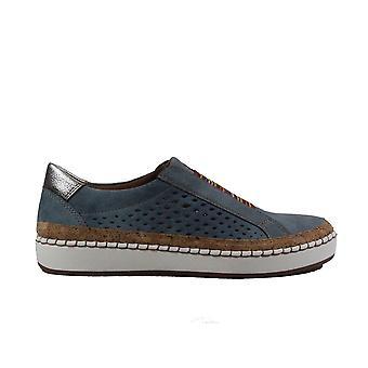 Ara Dublin 53234-76 Blue Womens Slip On Casual Trainer Shoes
