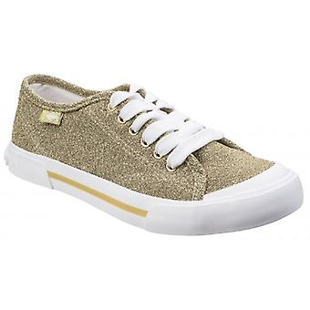 Rocket Dog Jumpin Disco Ladies Textile Casual Trainers Gold