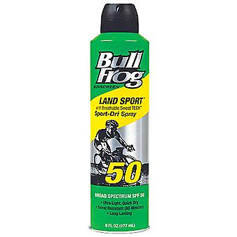 Bull frog sunscreen land sport-dri spray, spf 50, 6 oz