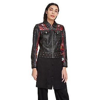 Veste brodée en cuir En cuir Deigual Women-apos;s Carole Jewelled Faux Leather
