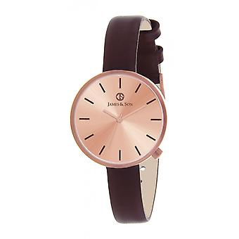 James And his JAS10042 805 - watch Leather Brown woman