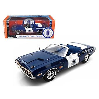 1971 Dodge Challenger Convertible Ontario Speedway Pace Car Limited à 1500pc 1/18 Diecast Model Car par Greenlight