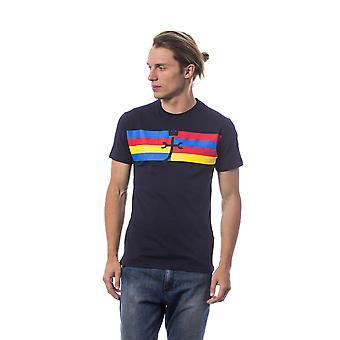 Men's Blue Castelbajac Short Sleeve T-shirt