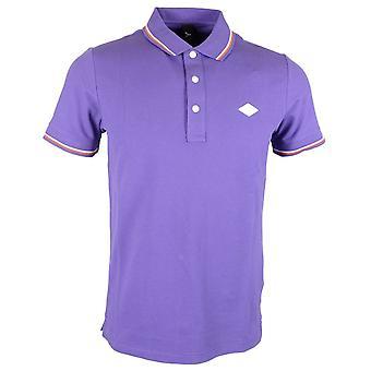 Replay Cotton Purple Polo Shirt