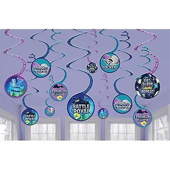 Battle Royal Storm The Party Hanging Swirls (Pack Of 12)