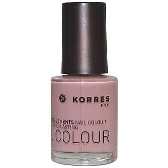 Korres Nail Color High Shine Long Lasting 10ml Washed Off Pink (#11)