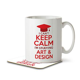 I Can't Keep Calm I'm Studying Art & Design - Mug and Coaster