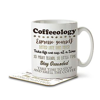 Coffeeology - Mug and Coaster