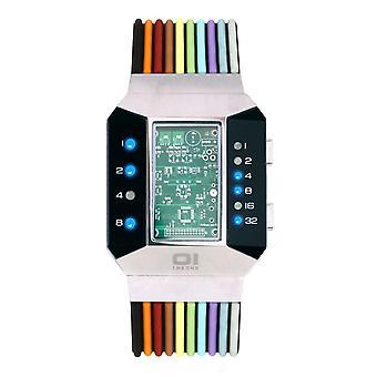 THE ONE Watch Men's Binary Wristwatch Split Screen SC102B6