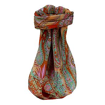Mulberry Silk Tradicional Bufanda Cuadrada Sariz Tangerine de Pashmina & Silk