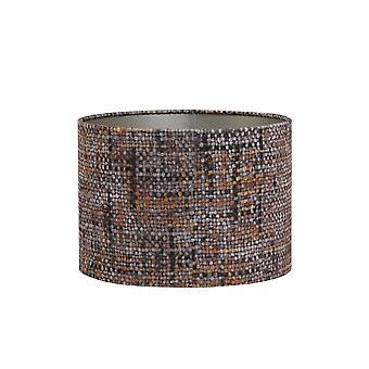 Light & Living Cylinder Shade 40x40x30cm Peru OrangexBrown On Taupe