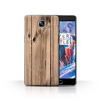 STUFF4 Case/Cover for OnePlus 3/3T/Plank/Wood Grain Effect/Pattern