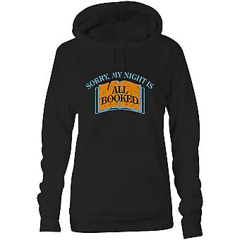 Womens Sweatshirts Hooded Hoodie- Sorry, My Night Is All Booked
