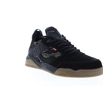 Globe Tilt Evo  Mens Black Nubuck Lace Up Athletic Skate Shoes