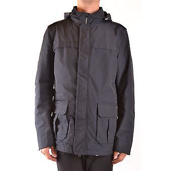 Herno Ezbc034061 Men's Blue Nylon Outerwear Jacket