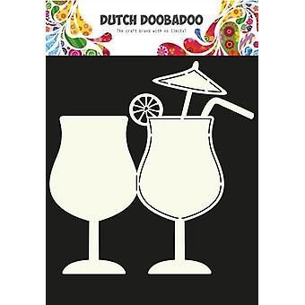 Niederländische Doobadoo niederländische Karte Kunst Cocktail Glas A5 470.713.634