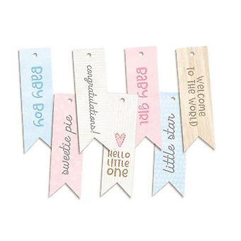 Piatek13 - Decorative tags Baby Joy 02 P13-BAB-22