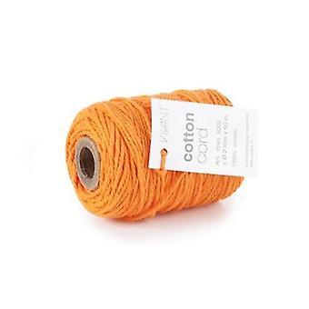 Vivant Cord Cotton fine orange - 50 MT 2MM