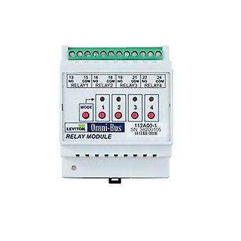 Leviton Omni Bus 4 Channel Relay Module Din Rail