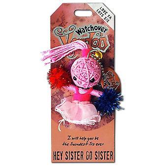 Watchover Voodoo Dolls Hey Sister Go Sister Voodoo Keyring