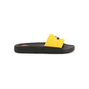Love Moschino - shoes - flip flops - JA28012G1AIQ_0400 - ladies - black,yellow - EU 35