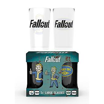 Fallout Vault Tec 2X Large Glass