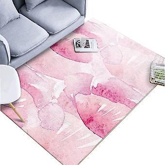שטיח לחדר שינה מרובע קריסטל קטיפה בסגנון מודפס שטיח ללא החלקה